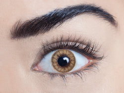 Caramel Tea coloured contact lens