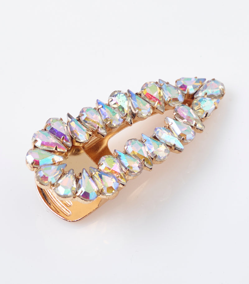 Gold Chunky Diamante Hair Clip