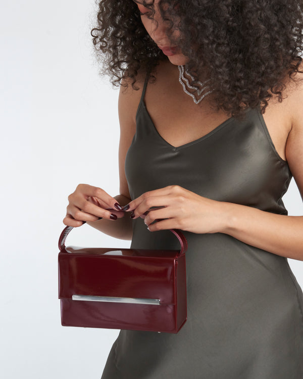 Red Wine Rectangle Gloss Bag