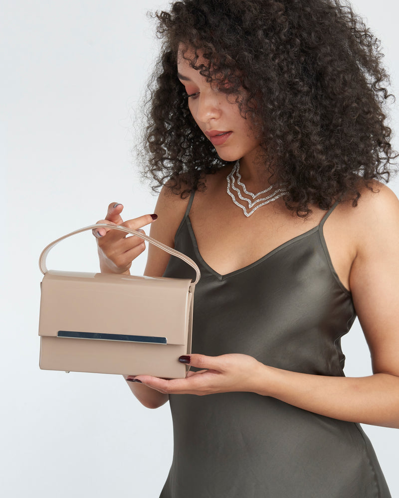Nude Rectangle Gloss Bag