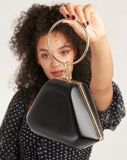 Big Spender Handbag With Hoop Detail