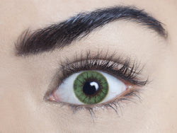 Regents green coloured contact lens