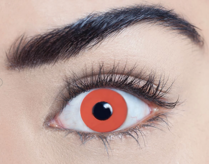Bloody red Halloween contact lens