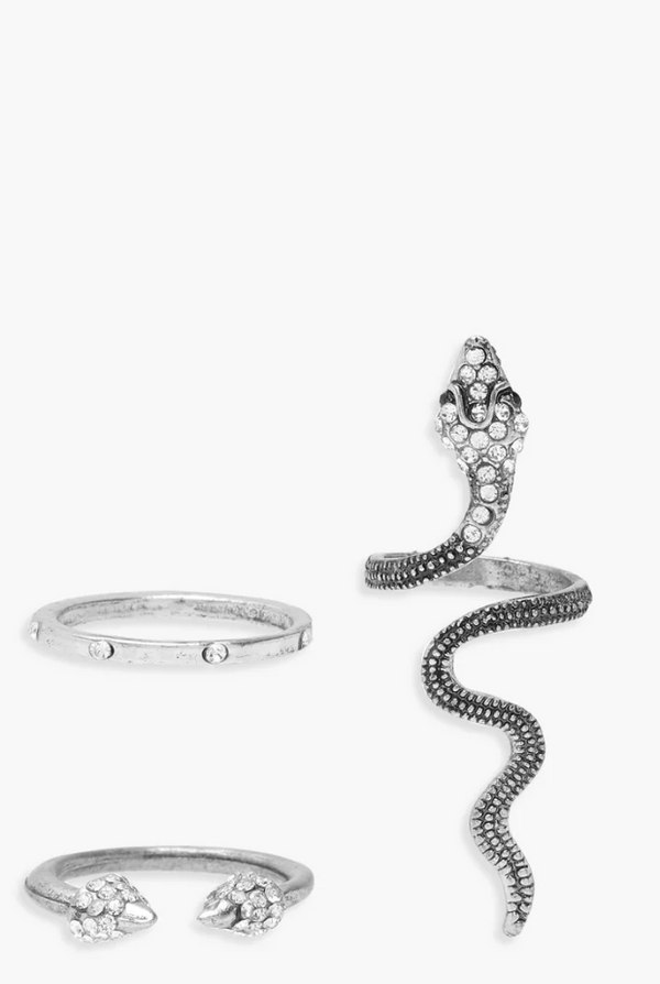 Statement Snake Ring Pack