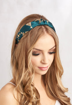 Multi Design Print Headbands Green