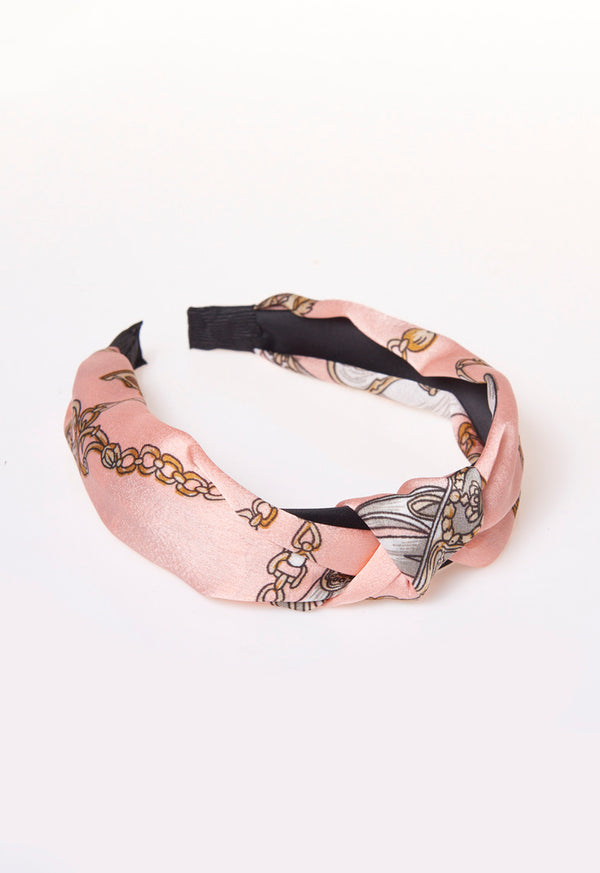 Multi Design Print Headbands Pink