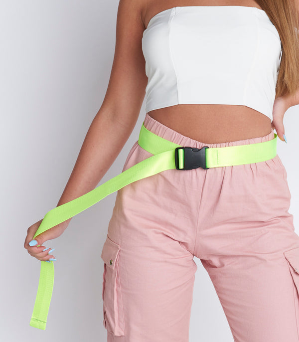Neon Woven Buckle Detail Utility Belt