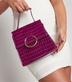 Purple Circle Buckle Bag