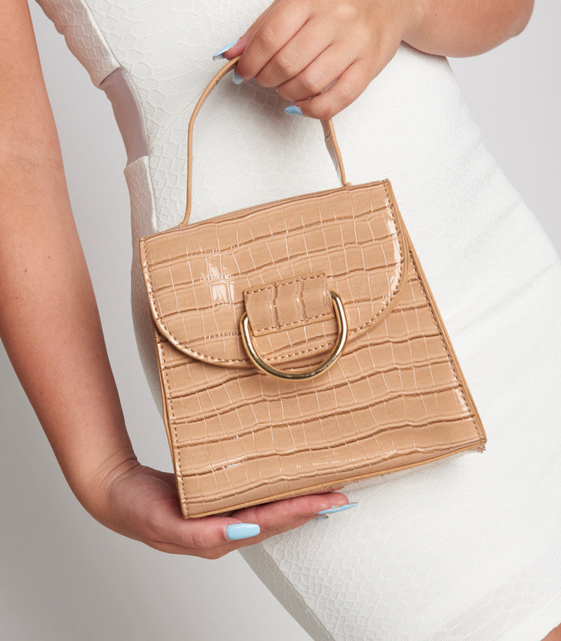Nude Circle Buckle Bag