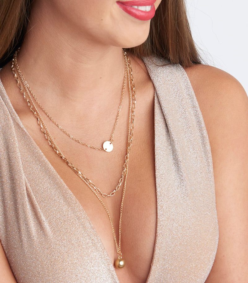 Gold Multi Layer Necklace