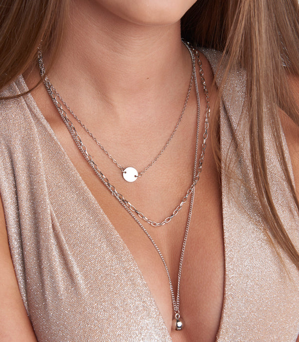 Silver Multi Layer Necklace