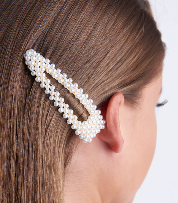 Pearl And Diamante Hair Slide.