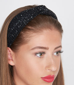 Black mesh Knotted Headband