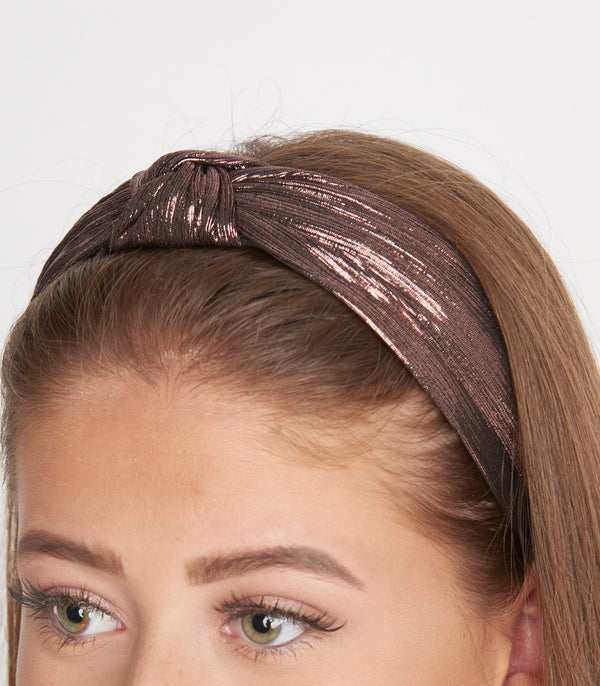 Rose Gold Metallic Knotted Headband