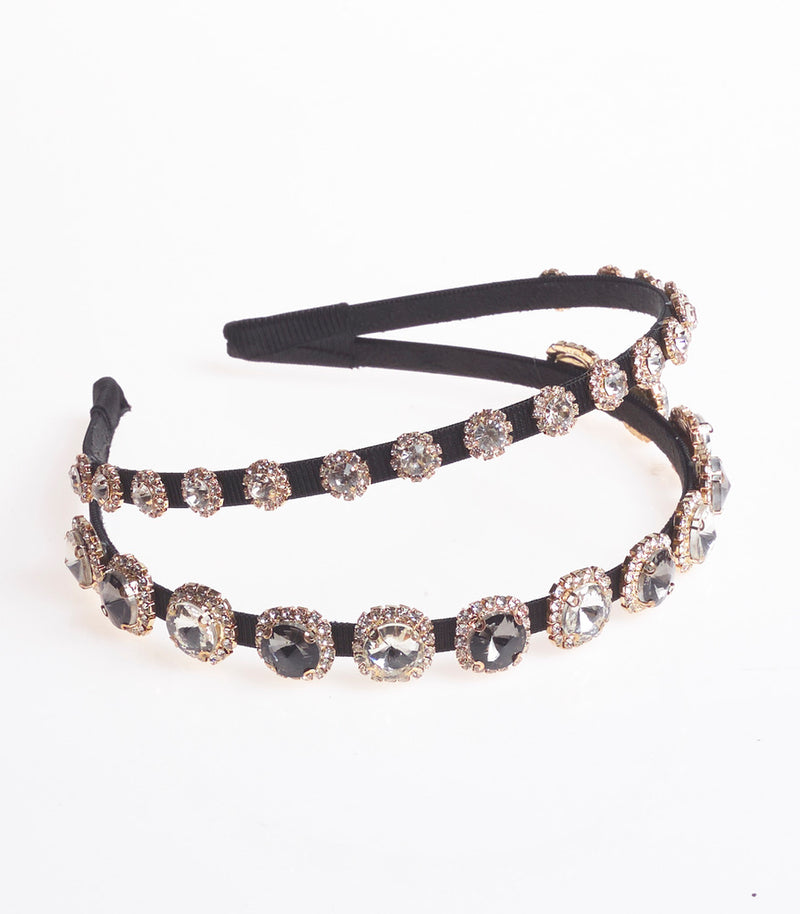 Large Diamante and Halo Style Headband