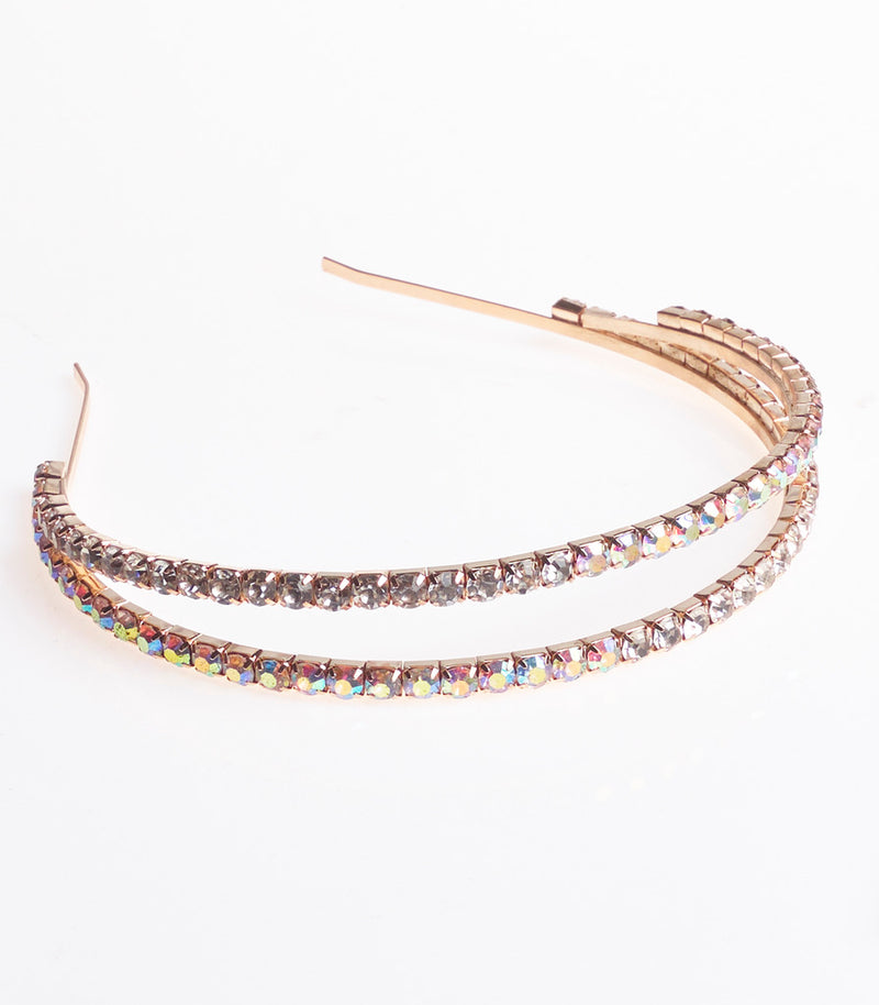 Gold And Diamante and Halo Style Headband