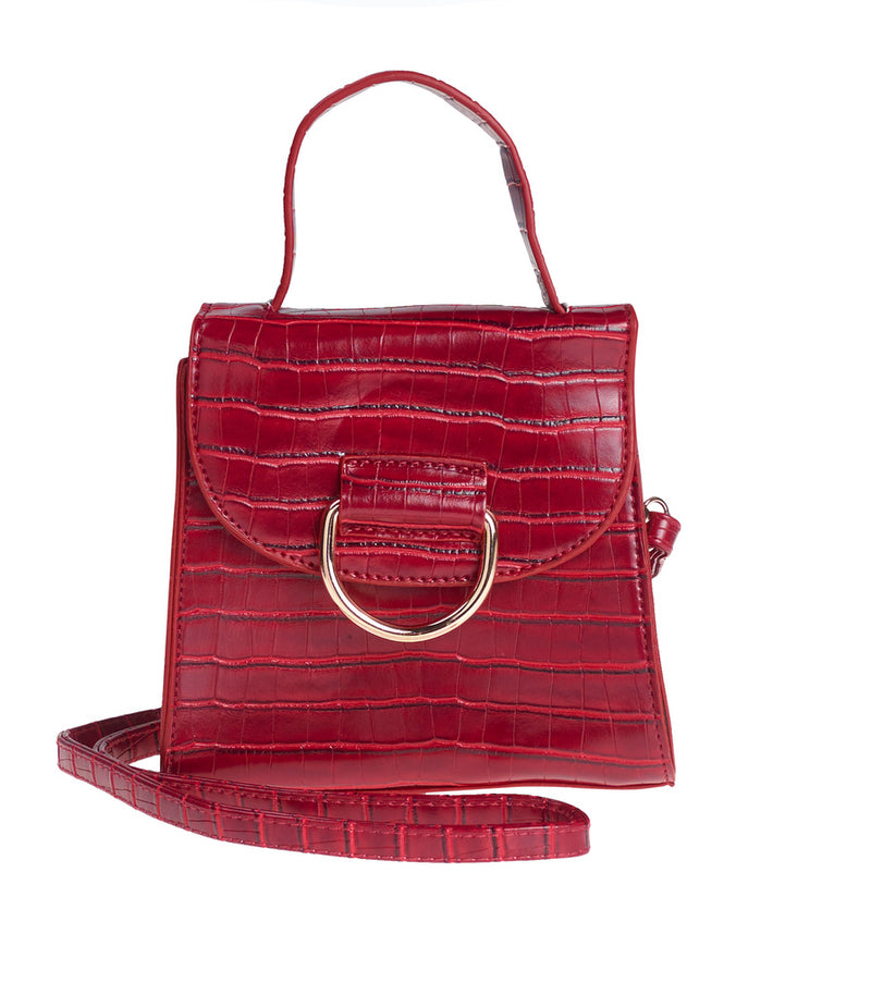 Red Circle Buckle Bag