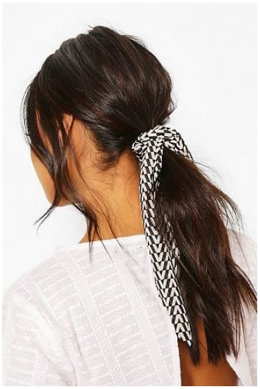 Geo Scrunchie & Hair Tie