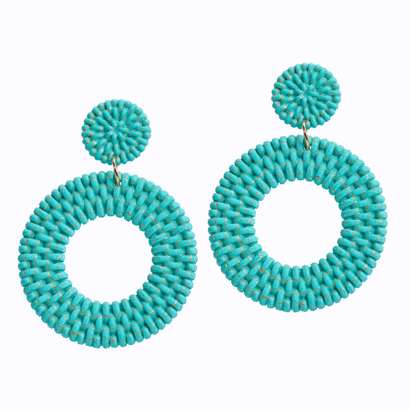 Straw Earring With Hoop Design