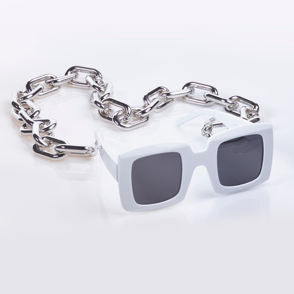 Link Chain Sunglasses Chain In Silver