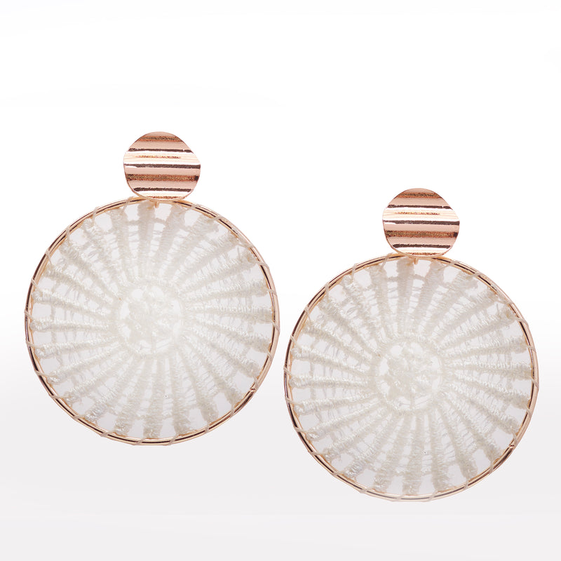Woven Circle Earring with Gold Detail