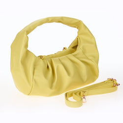 Yellow Ruched Handbag