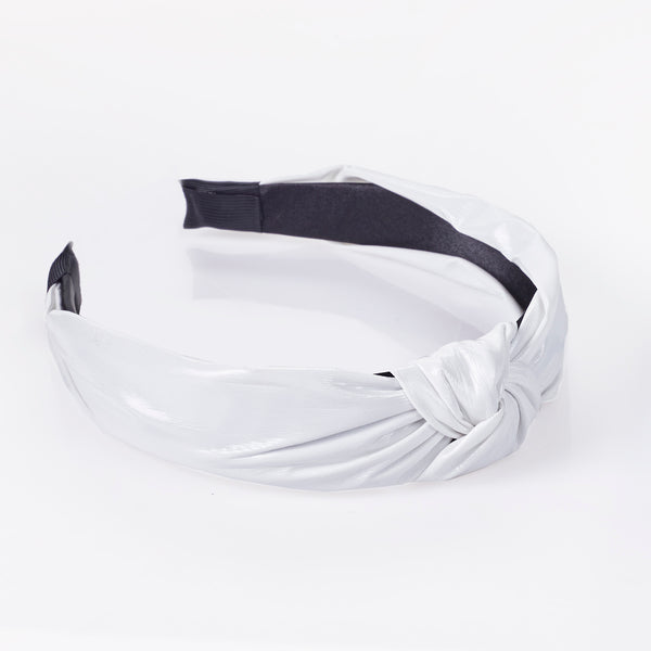 White PU Knot Headband