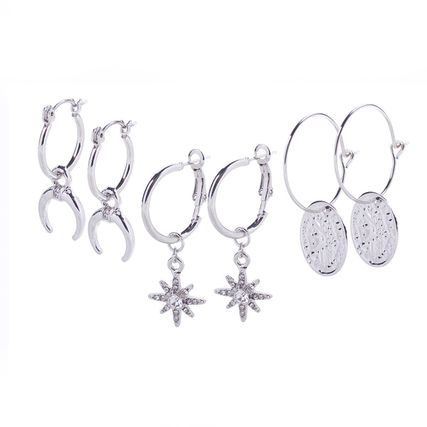 Silver Earrings Multipack