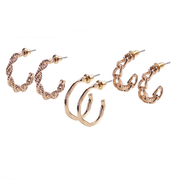 Gold Earrings Multipack