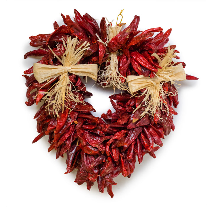 Decorated Chile Piquin Heart Ristra