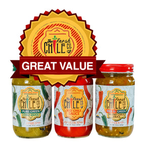 Hatch Chile Variety Pack - Three Jars - The Fresh Chile Company