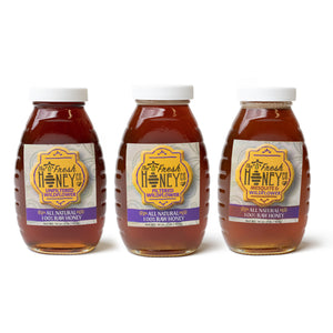 Local, Raw New Mexico Honey - Set of Three - The Fresh Chile Company