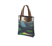 Load image into Gallery viewer, Lily Pads Lined Tote Bag