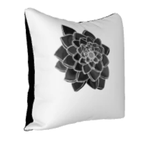 "Load image into Gallery viewer, Pillowcase - Expansion Detail 18"" x 18"" Black/White"