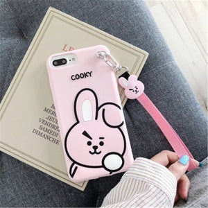 BT21 Character iPhone Case With Lanyard