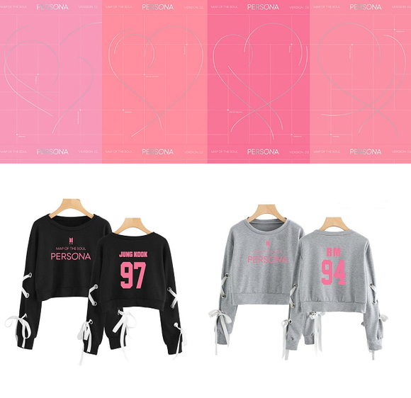 BTS MAP OF THE SOUL: PERSONA Crop Pullover (2 Colors)