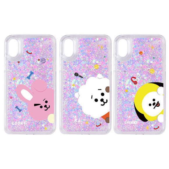BT21 Character Glitter iPhone Case (Type 1)