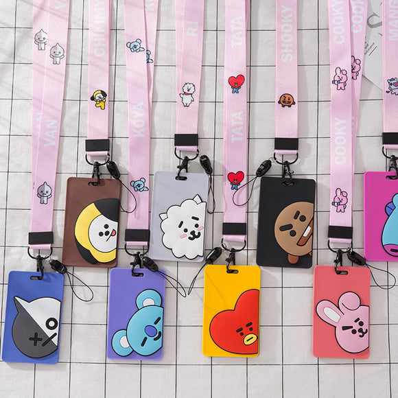 BT21 Character Lanyard ID Card Holder