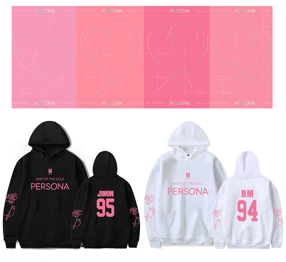 BTS Map Of The Soul: Persona Member Classic Hoodie (2 Colors)