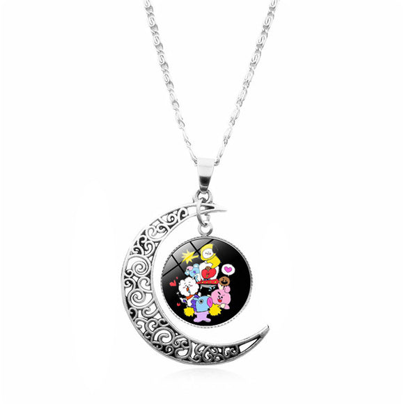 BT21 Character Classic Moon Necklace