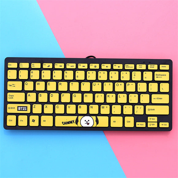 BT21 Character Wired Mini Keyboard