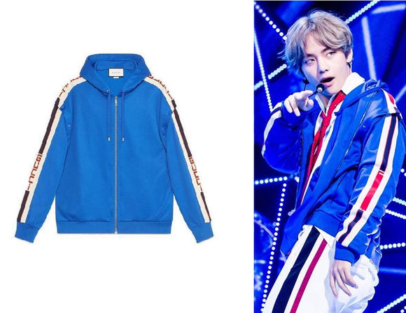 BTS V DNA Blue Jacket | BTS V Jacket | V Jacket | BTS Merch