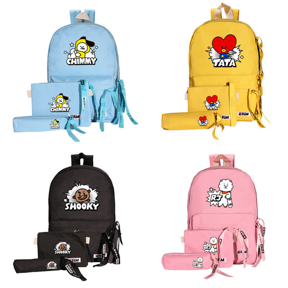 BT21 Character Backpack Set