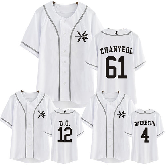 EXO THE WAR Baseball Button Up T-Shirt