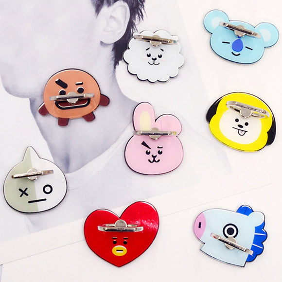 BT21 Character Phone Finger Ring Stand
