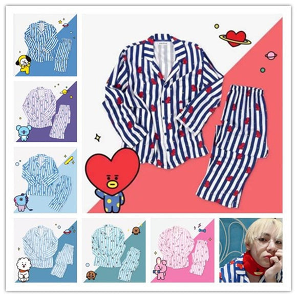 BT21 Cartoon Line Pajama Set