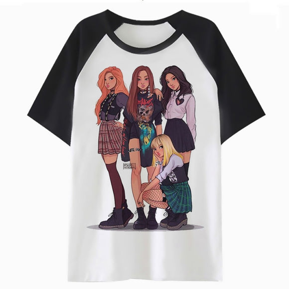 BLACKPINK Cartoon T-Shirt