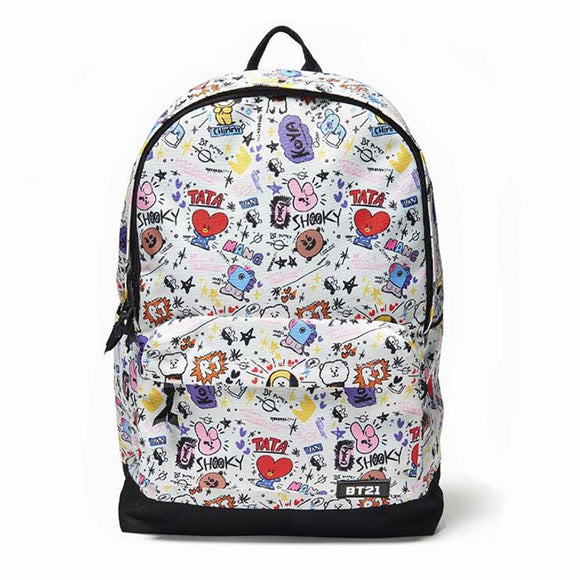 BT21 Cartoon Canvas Backpack | BT21 Backpack | BT21 Cartoon Backpack