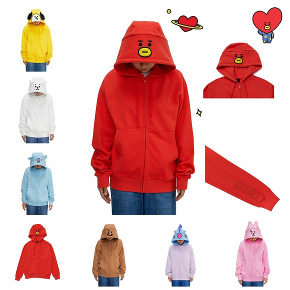 BT21 Costume Zip Up Hoodie | BT21 Hoodie | BT21 Jacket