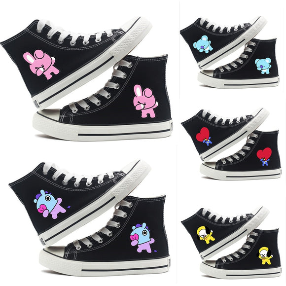 BT21 Character Printed High-top Canvas Sneaker (9 Designs)